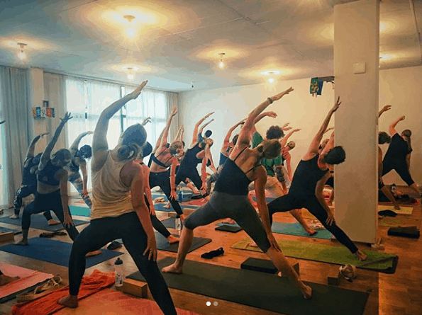 The hot dog yoga studio Cape Town