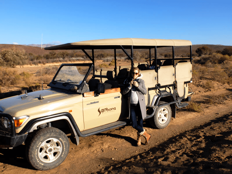 Sundowners on a game drive